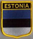 Estonia Embroidered Flag Patch, style 07.